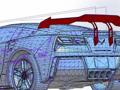 modeliranje spojlera od karbona